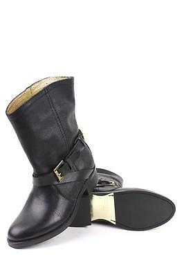 46fc2bb77 Ted Baker Women s Melbba Black Sz 10 Pull On Buckle Straps Ankle Boots Shoes  NEW