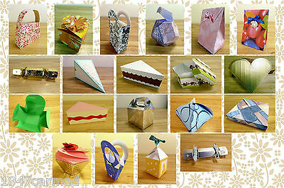 CRAFT ROBO/SILHOUETTE Gift boxes and bags templates CD42 from Cocopopart