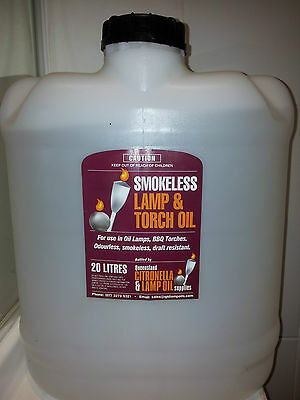 Lamp Oil 20 Lt Drum - Smokeless, Odourless & Clear, for Oil Lamps and BBQ Flares