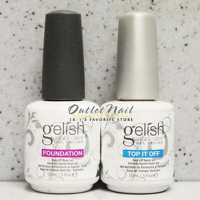 HARMONY GELISH Base & Top Coat (FOUNDATION & TOP IT OFF) 0.5oz - Ship within 24h
