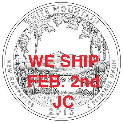 2013 D ROLL White Mountain Quarters New Hampshire NATIONAL FOREST From Mint bag