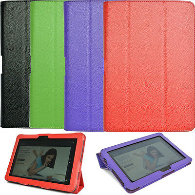 """Genuine Leather Stand Case Cover For Amazon Kindle Fire HD 8.9"""" inch Tablet"""