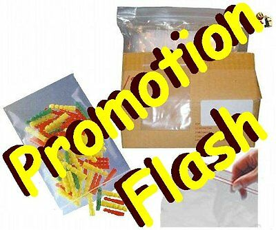 Lot 10000 Emballages Pochette Pochon Sachet plastique transparent Zip bag 70x100