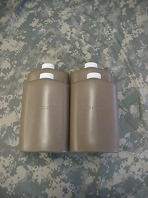 Us Military Plastic 1 Pint Pilot Flask / Canteen, Coyote, 4 Pack