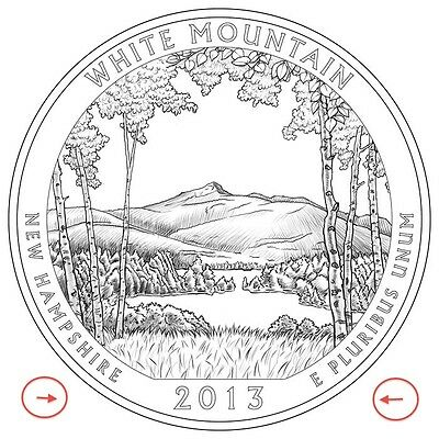 2013 P & D QUARTER BU WHITE MOUNTAIN New Hampshire ATB NATIONAL FOREST PARK SETs