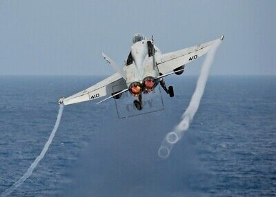 USN F//A-18 Hornet aircraft releases MK-83 1000-pound bombs 8X12 PHOTO US Navy