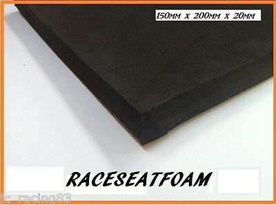 Motorcycle Race seat Foam (bum stop pad) 20mm Thick, Self Adhesive