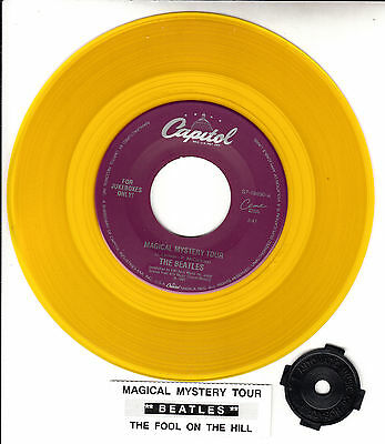"""BEATLES  Magical Mystery Tour & The Fool On The Hill YELLOW VINYL 7"""" 45 rpm NEW"""