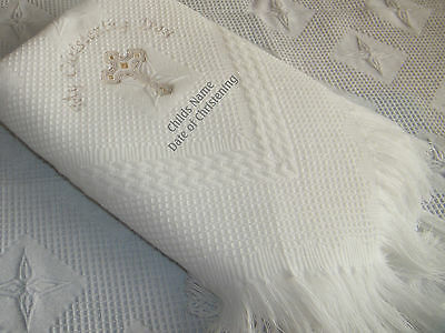 Personalised Baby Christening  or Baptism Shawl