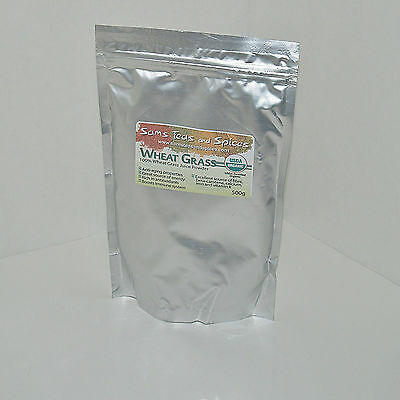 Organic Pure Wheat Grass Juice powder 1.1lb 500gr,  healthy super food