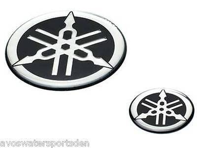 Genuine Yamaha Tuning Fork Resin Badges Bike MX Racing Decals Stickers