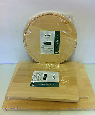 Russel  Wooden Chopping Board,  3 Different sizes Plus 1  Round wooden boards