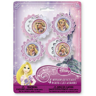 Disney Princess TANGLED ~ (4) Mirror Keychains ~ Birthday Party Supplies Favors