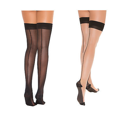 e5370a1e3f8f4 VINTAGE PIN Up Pink Cuban Heel Back Seam Stockings Lace Up Top For ...