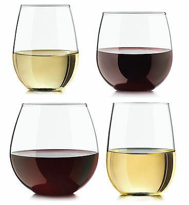 Libbey Vineyard Reserve Stemless Wine Glass Set - 8 Pieces - Bar Party Drinkware