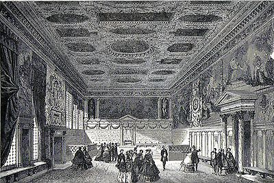Antique print Doge's Palace Venice Italy 1865 stampa antica Venezia Palazzo