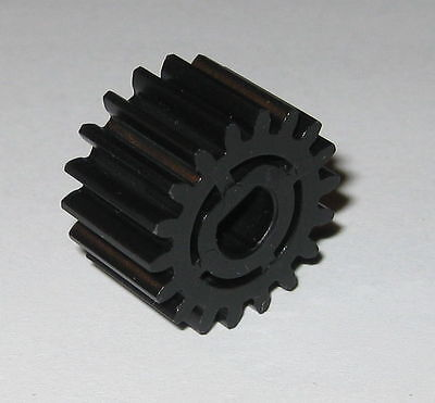 Thermoplastic Metric Spur Gear - 6 mm Flatted Bore - 18 Teeth - 19.76 mm OD