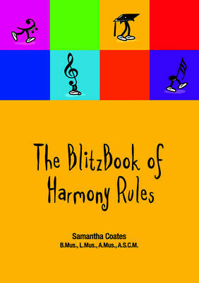 Blitz Book of Harmony Rules - Samantha Coates Book *NEW* Blitz, AMEB, Theory