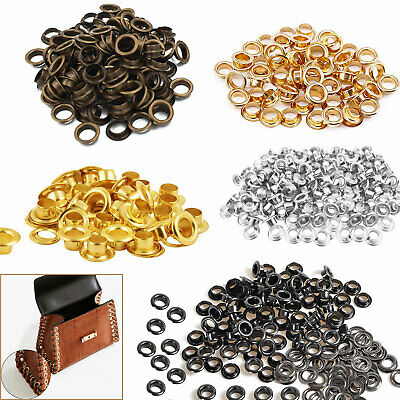 100 x 4mm Eyelets & Washers in Gun Metal, Gold, Silver, Bronzes - UK Seller