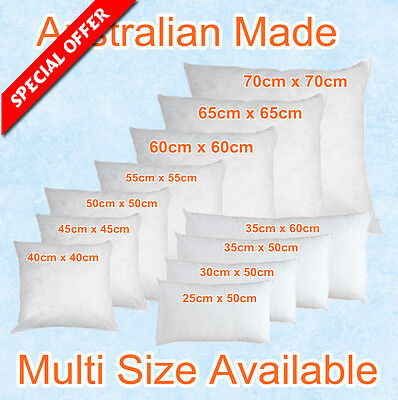 Aus Made New Cushion Inserts Premium Polyester Fibre Filling(13 Size Available)
