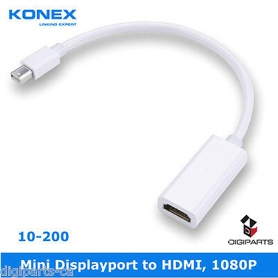 Mini DisplayPort DP MDP to HDMI, Cable Adapter Converter For Mac PC HDTV AUDIO