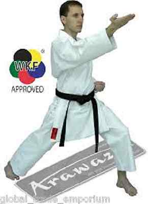 BRAND NEW ARAWAZA CORAL KARATE SUIT GI UNIFORM MARTIAL ARTS 10oz WKF APPROVED