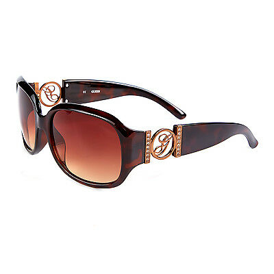 Guess Brown Tortoise Shell Ladies Womens Sunglasses - Gu 7005N To-34 - Cat 3
