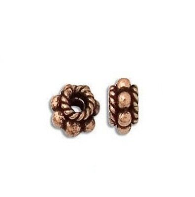Copper  7Mm Bali Style Oxidized Spacer 20 Pcs. Solid Copper  Bbcp37A
