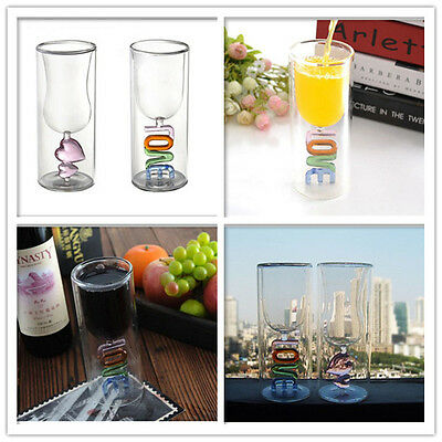 Love Heat Drinking Glass Set for Valentines Wedding Anniversary Occasions Gift