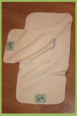 2 x Soft Bamboo Organic Baby Flannel Face Hand Towel Washcloth Wipes BURPY BIB