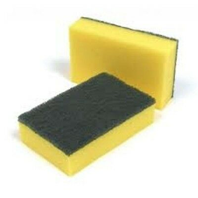 Sponge Scourers, Double Sided Scourers, Cheap Scourers (10) Kitchen Supplies