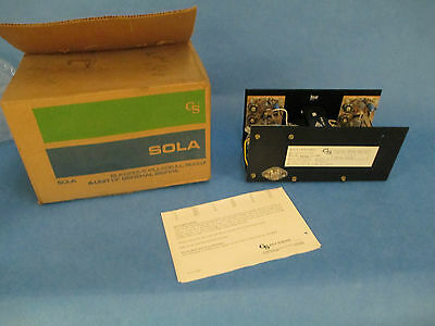 Sola Electric DC Power Supply, 83-12-3218, 120VAC to 12VDC, New in Box!!!