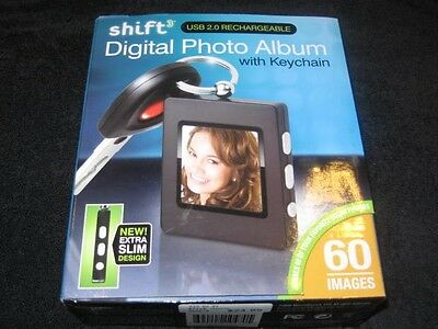 SHIFT3 Digital Photo Album with Keychain 60 images New NIB Rechargeable 2.0