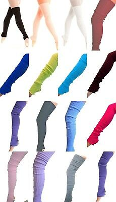 RIBBED STIRRUP LONG RIB LEGWARMERS LEG WARMER BALLET DANCE 89cm 90cm UK SELLER