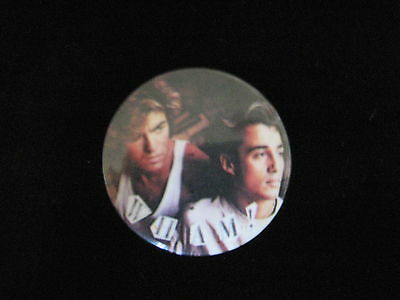 Wham-George Michaels-Rock-Andrew Ridgeley-Pin Badge Button-80's Vintage-Rare