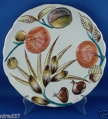 Attractive Vintage - 'Italian 3D Vegetable Pottery Plate' - In Australia!