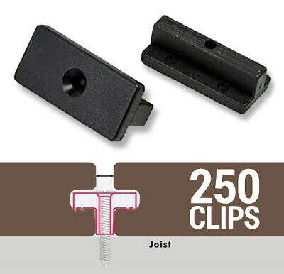 250 Composite Decking Clips Plastic Hidden Fixings T-clips (Suitable for 15 SQM)