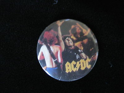 AC/DC-Brian Johnson-Heavy Metal-Pin Badge Button-80's Vintage-Rare