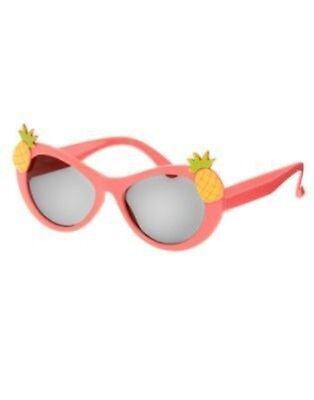 Gymboree Aloha Sunshine Coral Pineapple Sunglasses 0 2 3 4 5 6 Nwt