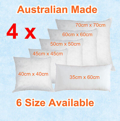 Aus Made New CUSHION INSERTS Premium Polyester Fibre Filling(6 Size Available)