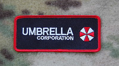 Resident Evil Umbrella Corporation Patch Hook Backing