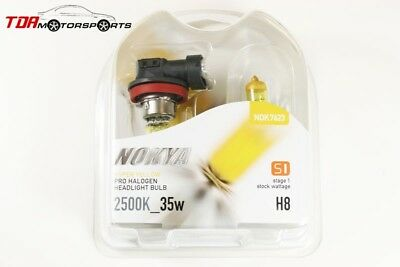 NOKYA Halogen Light Bulbs H8 Hyper Yellow 2500K 35W