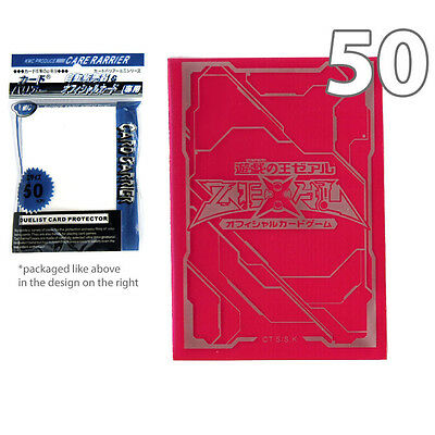50 ct Translucent-Red Yugioh Zexal Logo Card Sleeves KMC Plastic Deck Protector