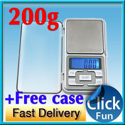 200g Digital Pocket Scale 0.01g Precision Jewellery Balance gram Scales Weight