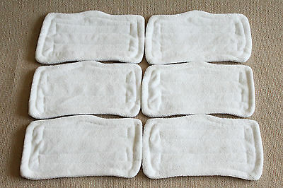 Lot of 6 New Microfiber Replacement Pads For Steam Mop S3101 S3250 High Quality