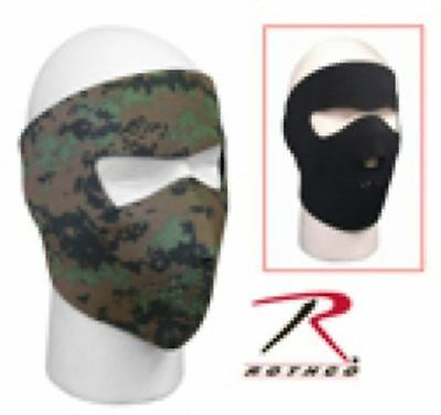 US Army USMC Military Hunting Woodland Digitial Camo Black Winter Face Mask