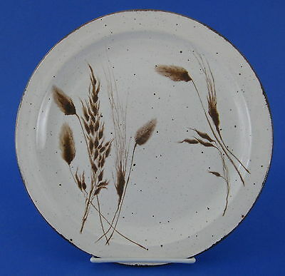 Midwinter Wild Oats Dinner Plate Stonehenge Brown Oats Dots England VINTAGE