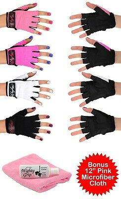 Mighty Grip Powder + Pink  Cloth + Pole Dance Fitness Gloves Non Tacky (3 items)