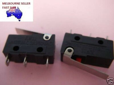 3pcs MICRO LIMIT SWITCH  HINGED LEVER  12V/24V/250V  3A