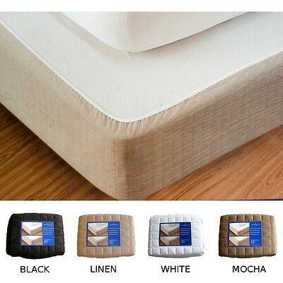 Brand New Double Bed Box Spring Cover - 4 Colours - Valance - Bedskirt